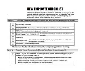 new employee checklist template sle new hire checklist template 11 documents in pdf