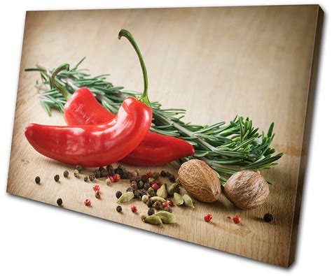 food kitchen red chili peppers single canvas wall art food kitchen spices chili pepper single canvas wall art