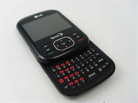 lg slide phone sprint lg remarq ln240 cdma qwerty slide cell phone other