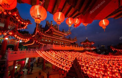new year bank china thean hou temple in kuala lumpur at during