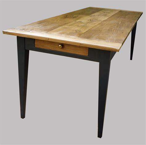 table cuisine longue table ancienne rectangulaire peinte et