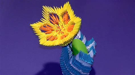 3d Origami Lotus Flower Tutorial - 3d origami flower lotus tutorial