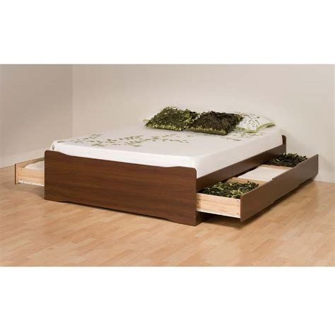 platform beds with storage drawers prepac coal harbor full size mate s platform storage bed