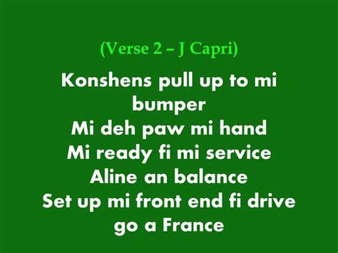 j up lyrics konshens and j pull up to mi bumper lyrics