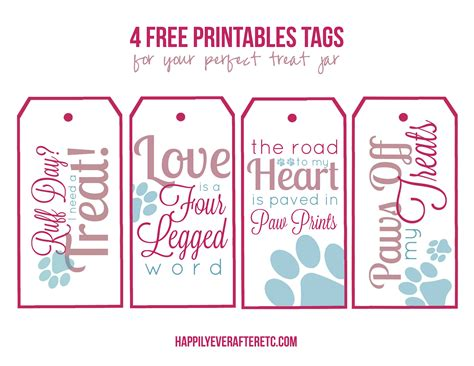 printable dog gift tags how to diy a dog treat jar with 4 free printable tags