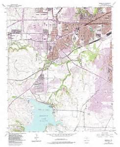 benbrook topographic map tx usgs topo 32097f4