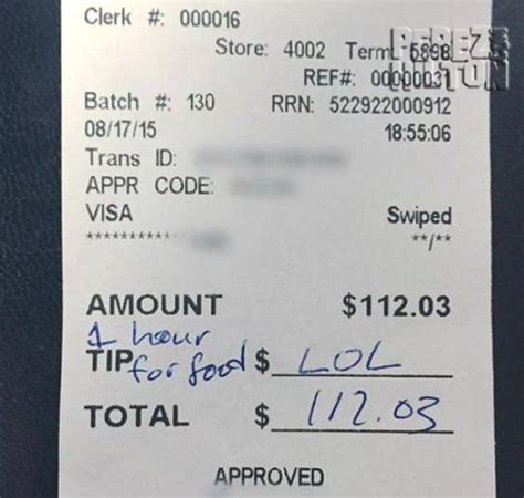 Tip Check For Messages by This Waitress Expected A Tip But Got A Lol Message