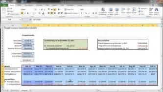 prepaid expense amortization schedule walkthrough