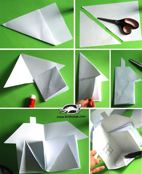 How To Make A 3d Paper House - krokotak how to make a 3d paper house