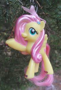 my little pony fluttershy christmas holiday ornament by