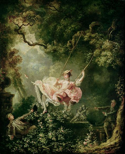lady on swing painting the swing by jean honore fragonard