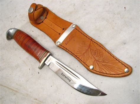 estwing knife early estwing knife leather handle tool w sheath