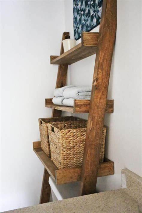 bathroom ladder shelves best 25 toilet storage ideas on shelves