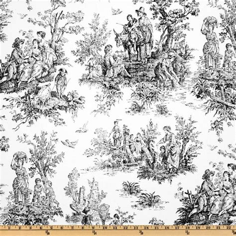premier prints colonial toile black white discount designer fabric fabric com