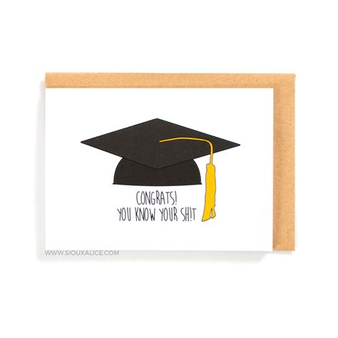Graduation Gift Card - graduation card congratulations on your graduation funny