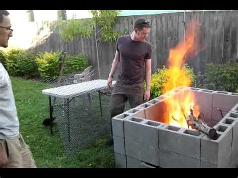tim s backyard bbq diy backyard bbq pit the break in burn youtube