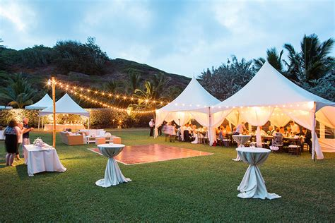 Wedding Rentals by Kauai Wedding Tent Rental Floor Wedding Equipment