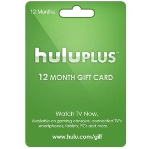 hulu plus 12 month 1 year gift card membership subscription code email - Hulu 1 Year Gift Card