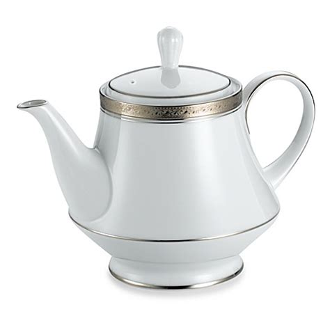 bed bath and beyond teapot buy noritake 174 crestwood platinum teapot from bed bath beyond