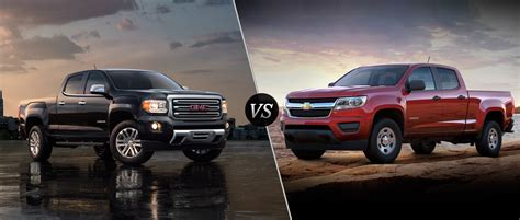 chevy colorado vs gmc 2016 gmc vs 2016 chevy colorado
