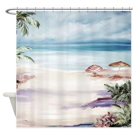 shower curtains beach scene beach scene shower curtain by simpleshopping