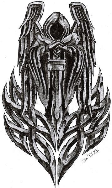 celtic angel tattoo ideas designs  meanings