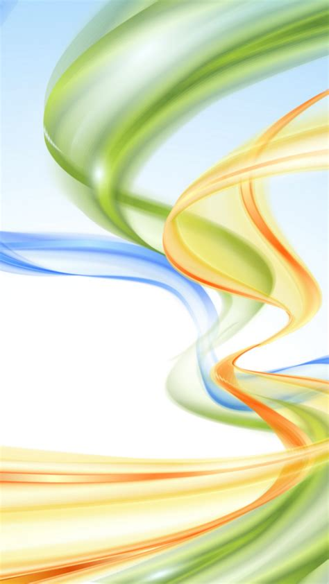 wallpaper waves vertical colorful blue orange green