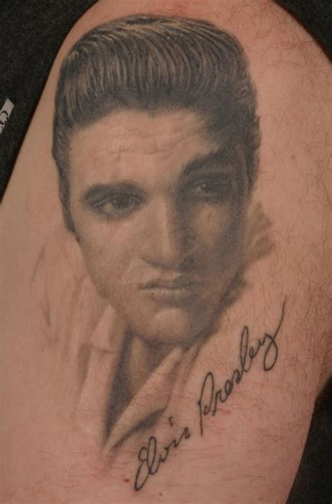 elvis tattoo 187 musician tattoos johnny elvis