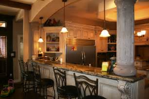 Kitchen With Bar Design by New Construction