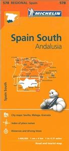 libro andalusia regional map 578 themapstore michelin spain south andalusia 578