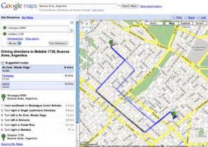 Google maps now provides its get directions feature for the city