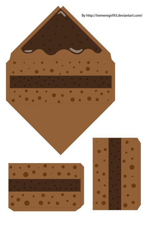 Papercraft Boxes - chocolate cake papercraft by tremeregirl93 on deviantart