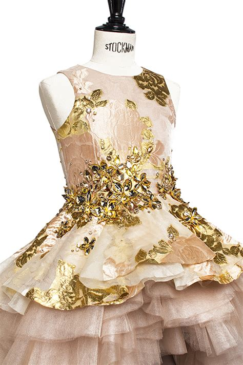 harrods designer clothing luxury gifts fashion exclusive real gold girls occasionwear dress kid style