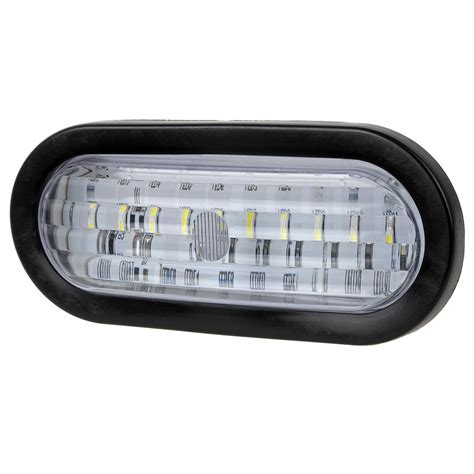 oval white led lights 2xtrailer lights white 30 led 6 quot oval stop turn