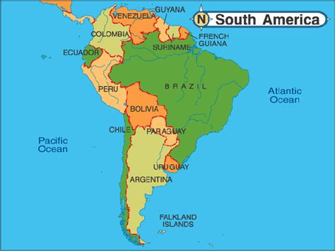 south america major cities map about travel january 2011