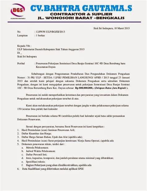 Surat Permintaan Penawaran Biaya Jasa Pengiriman Barang by Contoh Surat Penawaran Jasa Contohsuratmu