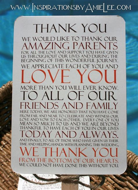 thank you letter to s parents from groom custom wedding program fans by inspirations by amie