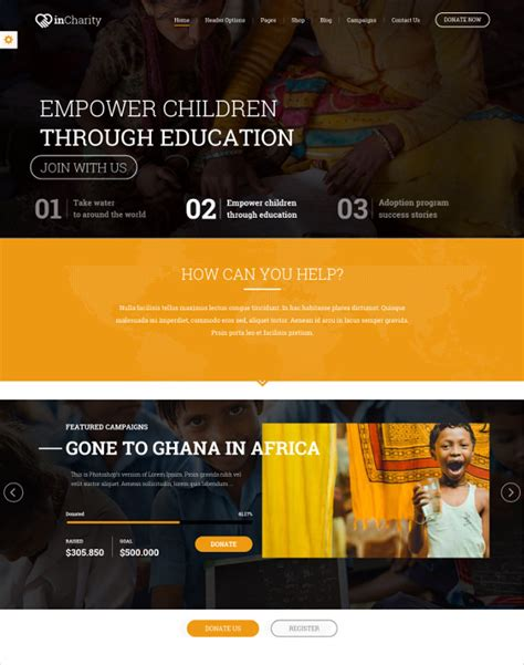 non profit website templates free 35 non profit website themes templates free premium