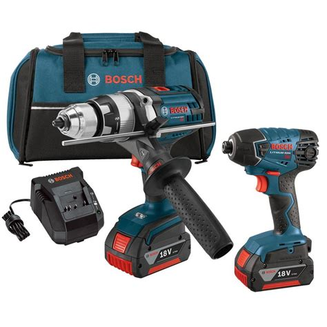 Bosch Driver bosch 18 volt lithium ion cordless 1 2 in drill driver and 1 4 in impact driver combo kit with