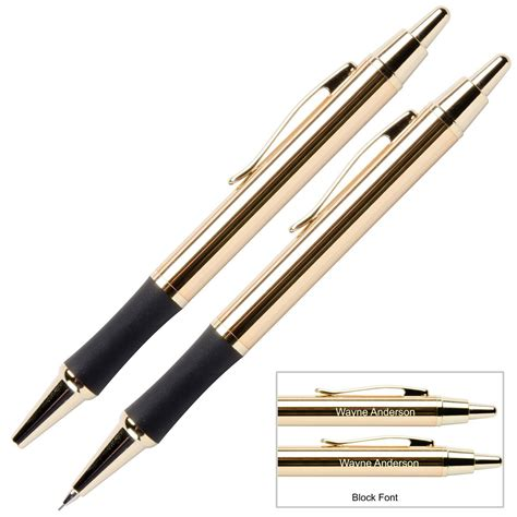 monaco personalized custom engraved 24 karat gold plated pen