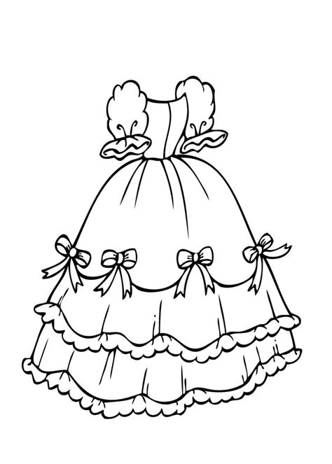 coloring pages princess dresses dress with bows coloring page for printable free