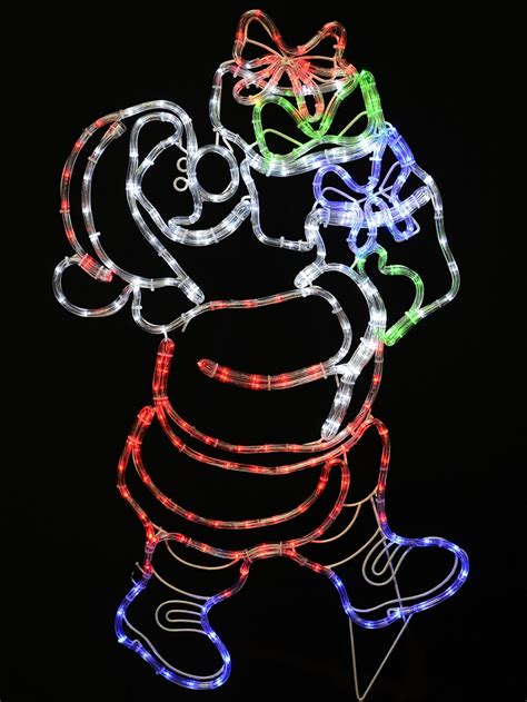 rope light santa santa carrying gifts rope light silhouette 97cm lights the