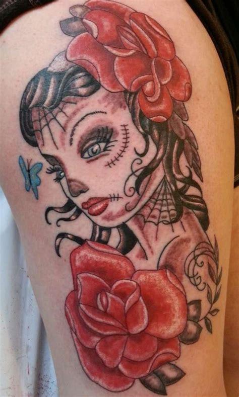 feminine skull tattoo feminine skull roses