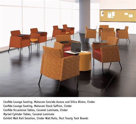 National Office Liquidators by Confide Lounge Seating With Tablet Arm National Office