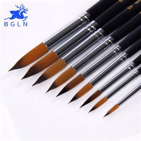 acrylic paint brushes aliexpress buy bgln 9pcs handle