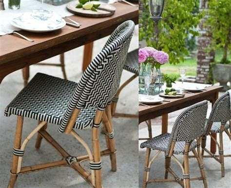 design sleuth classic french rattan bistro chairs remodelista