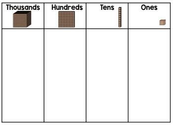 printable ones tens hundreds thousands chart place value mats freebie miss jacobs little learners