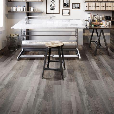 Grey Aged pine effect Waterproof Luxury vinyl click
