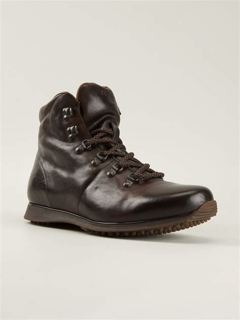 mens brown hiking boots car shoe hiking boots in brown for lyst
