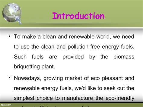 make clean to make clean atmosphere use briquetting plant
